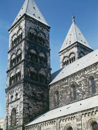 Detail of Tower of Lund Cathedral. Sweden, 12th Century