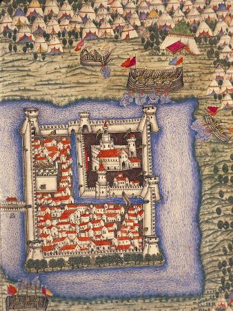 Close-Up of an Ottoman Miniature Depicting the Szigetvar Fortress