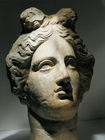 Italy, Cagliari, Female Head, Terracotta