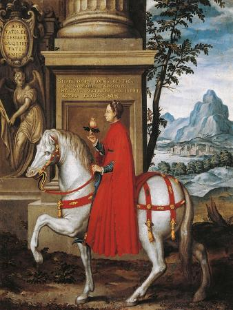Portrait of Matilda of Tuscany also known as Matilda of Canossa, on Horseback