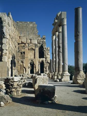 Lebanon, Baalbek, Monumental Atrium and Colonnade of Temple of Jupiter-Baal
