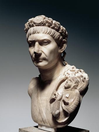 Cast Sculpture of Head of Emperor Trajan