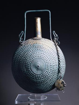 Bronze Flask with Embossed Decoration, from Vulci, Montalto Di Castro