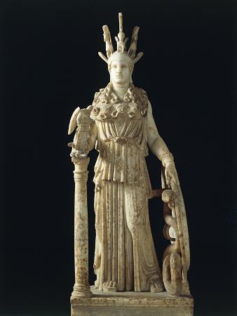 Varvakeion Athena, Roman Marble Copy of Greek Statue of Athena Parthenos by Phidias