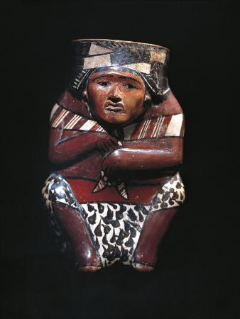 Vase Depicting a Hunter with an Animal Skin Shawl, Nazca Culture, Peru