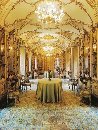 Italy, Sicily, Catania, Palazzo Biscari, the Birds' Gallery