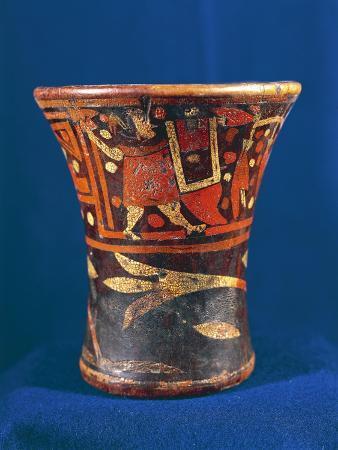 Painted Wooden Vessel Called Kero
