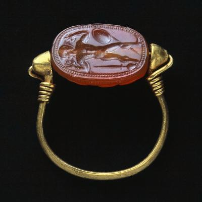 Silver Ring. Etruscan Civilization BC