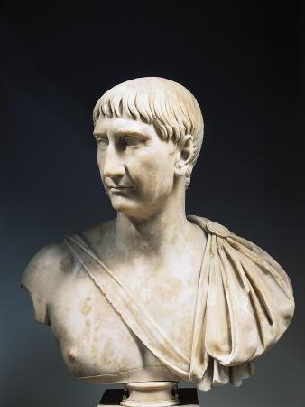 Marble Bust of Roman Emperor Trajan, Circa 108