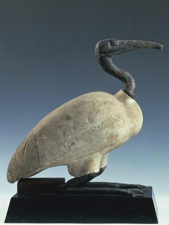 Bronze and Limestone Statue of Ibis, Thot's Sacred Animal
