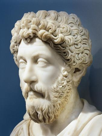 Marble Bust of Emperor Marcus Aurelius, Ad 161-180, from Turkey, Ephesus, Terrace House