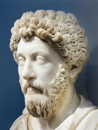 Marble Bust of Emperor Marcus Aurelius, Ad 161-180, from Turkey, Ephesus, Terrace House