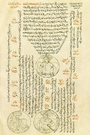Ghengis Khan, Illuminated Page from the Universal History, Turkey 18th Century
