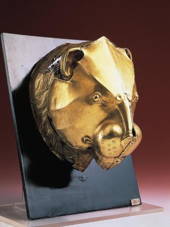 Gold Rhyton in Shape of a Lion's Head, from Mycenae, Greece