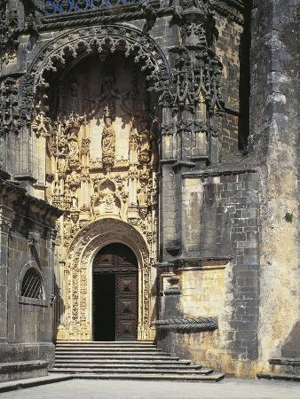 Portugal, Tomar Convent of Christ, UNESCO World Heritage List, 1983, Manueline Entrance