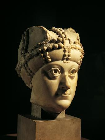 Marble Sculpture Depicting Empress Arianna's Head, from Istanbul, Turkey