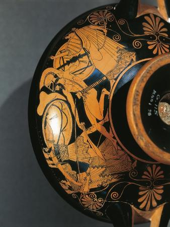 Attic Cup by Kaliandis Depicting Fight Between Ajax and Hector