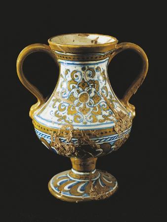 Perfume Jar, Ceramic, Deruta Manufacture, Umbria, Italy