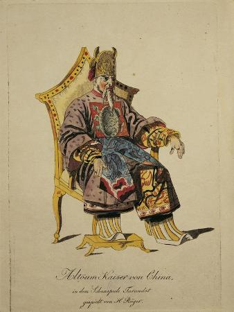 Austria, Vienna, Costume Sketch for Altoum, Emperor of China in Turandot