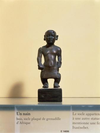 Egyptian Civilization. Wooden Statue of a Dwarf