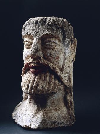 Mask Depicting Male Face, Tufa, 4th-2nd Century BC