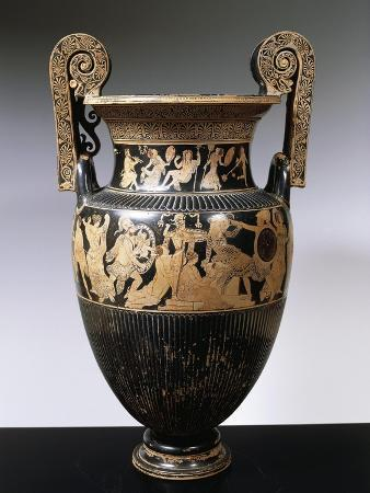 Volute Krater with Banqueting Scene and Divinities of Greek Pantheon