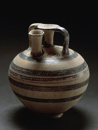 Bulbous Jug with False Neck, from Leporano, Puglia, Italy