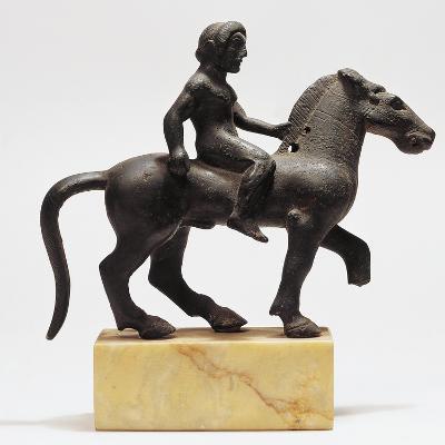 Etruscan Bronze Figure of Horseman, 500-480 B.C.