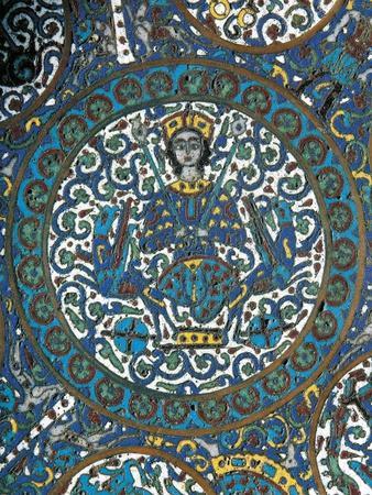 Bronze Cloisonne' Enamel Plate, Detail Depicting Alexander's Ascent to Heaven