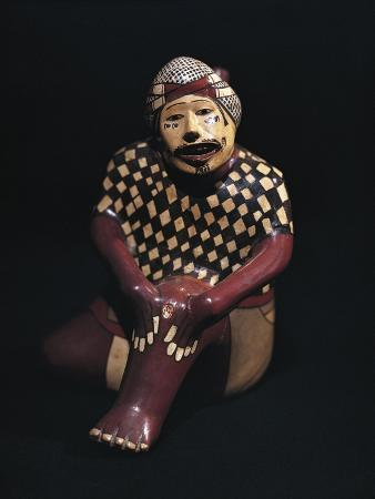 Ceramic Vase in Shape of Man Showing Wound, from Peru