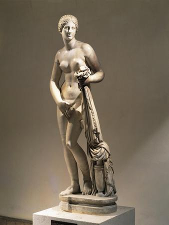 Marble Statue of Aphrodite of Cnidus, Copy of a Greek Original by Praxiteles