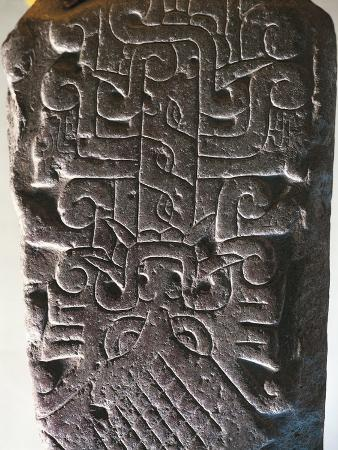 Stone Engraved with Figure of Feline from Chavin De Huantar, Peru, Chavin Culture