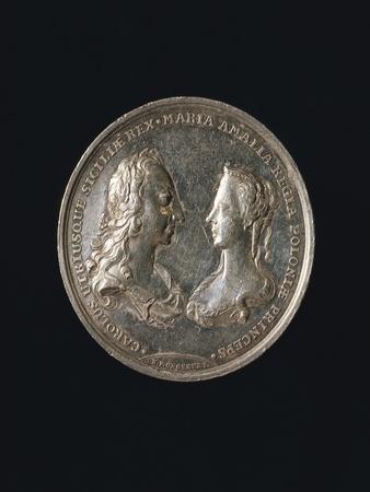 Commemorative Medal Marking Charles of Bourbon and Maria Amalia of Saxony's Wedding, 1738