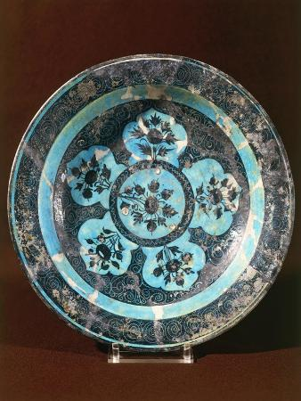 Islamic Ceramic Plate, from Iran, Persian Civilization, Mongol and Timurid Period