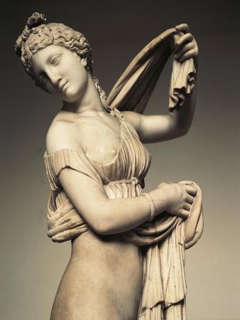 Detail of Marble Statue known as Farnese Venus or Aphrodite Kallipygos