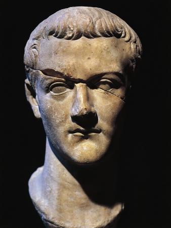 Roman Civilization Bust of Gaius Julius Caesar Germanicus also known as Caligula, Roman Emperor