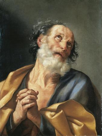 Italy, Portrait of Saint Peter Crying