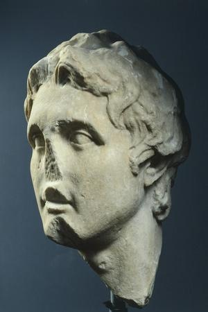 Head of Alexander, Copy from Augustan Age in Pentelic Marble from Hellenistic Original AD