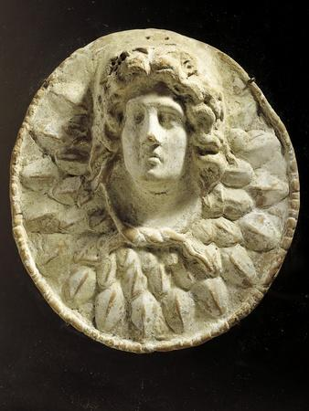Alexander Great-Helios, Hellenistic Medallion in Terracotta BC