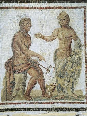 Mosaic Depicting Venus Talking to Mercury from Gightis, Boughrara, Tunisia