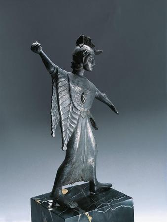 Bronze Statue Depicting Fighting Minerva