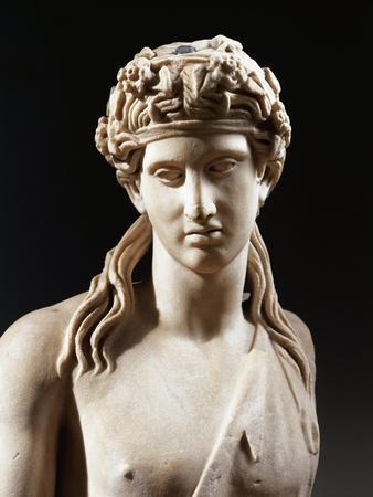 Bust of Dionysus, Copy from Greek Original by Praxiteles