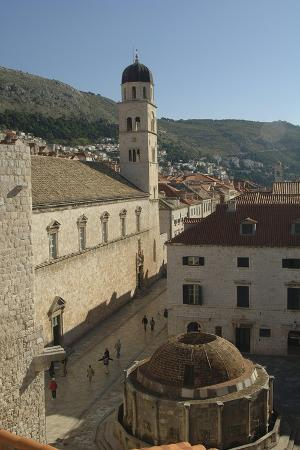 Croatia, Dalmatia, Dubrovnik, Franciscan Monastery and Onuphrius's Fountain