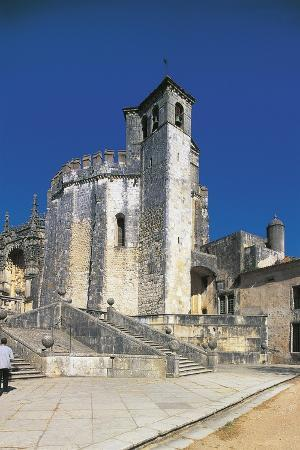 Portugal, Tomar, Templar Church at Convent of Christ, UNESCO World Heritage List, 1983