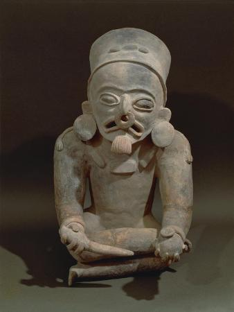 Statue of Bahia, High Priest or Shaman, from Manabi, Ecuador, Pre-Columbian Civilization