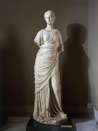 Marble Statue of Muse, from Frigidarium of Baths of Faustina at Miletus, Turkey