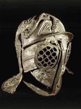 Gladiatorial Parade Bronze Helmet, from Pompei, Italy