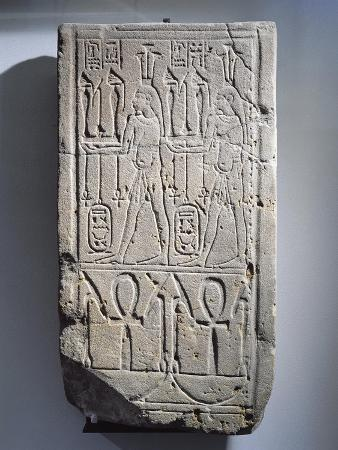 Gres Stele Depicting the Geniuses of the Nile Flooding