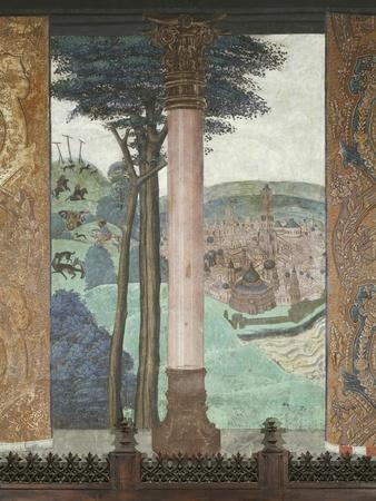 Hunting Scene and City Views, Baronial Hall, Issogne Castle, Italy