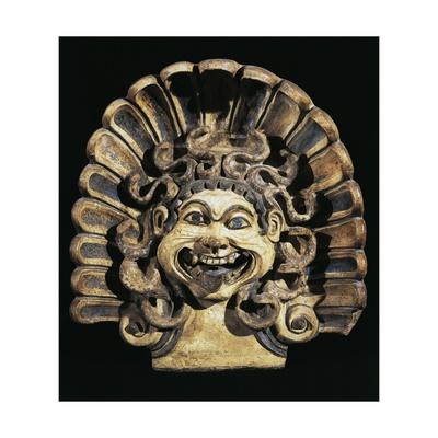 Antefix with Gorgon's Head, 510-500 BC, from Portonaccio Sanctuary, Veii, Latium, Italy